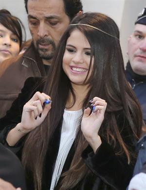 Selena Gomez out and about in Paris 2/17/13
