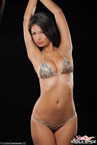Karla Spice in a bikini