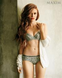 Holland Roden in lingerie