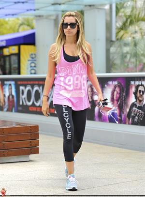 Ashley Tisdale arriving at the Equinox gym in West Hollywood June 15, 2012