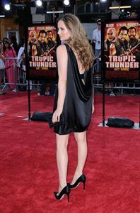 Alicia Silverstone Tropic Thunder premiere in Los Angeles