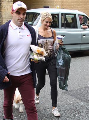 Ali Bastian outside Empire Theatre in Liverpool on July 2, 2012