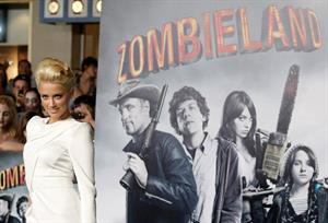 Amber Heard attends the premiere of the film Zombie Land in Los Angeles