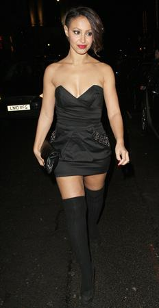 Amelle Berrabah Mahiki X-mas party on December 16, 2010