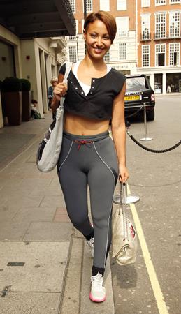 Amelle Berrabah Mayfair Gym Candids June 25, 2010