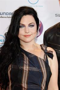 Amy Lee attends the 2011 MTV European Music Awards in Belfast Ireland on November 6, 2011