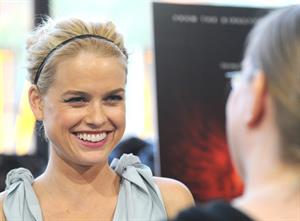 Alice Eve attends the Raven New York Red Carpet Screening Event on April 16, 2012