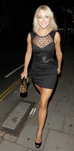 Ali Bastian attends Rock of Ages in London on September 28, 2011