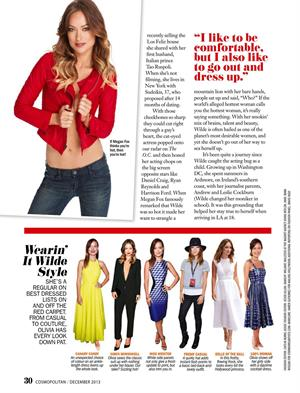 "Olivia Wilde – ""Cosmopolitan"" Magazine Singapore Dec 2013"