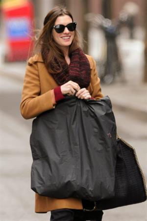 Anne Hathaway out and about in New York City on February 2, 2012