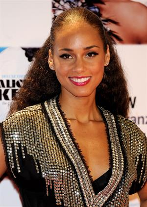 Alicia Keys a photocall for her concert in Madrid Spain on January 18, 2010