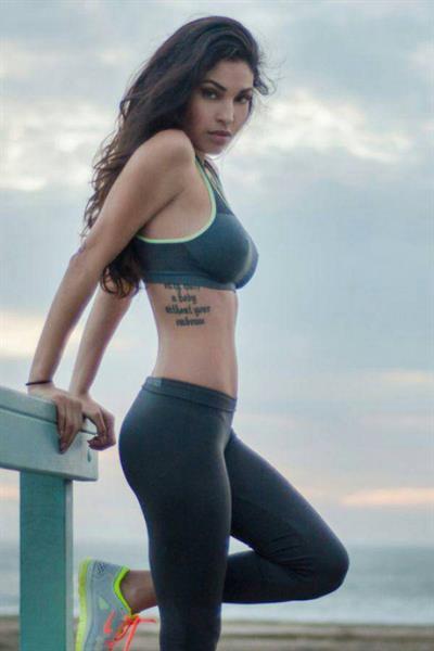 Anonymous in a bikini in Yoga Pants