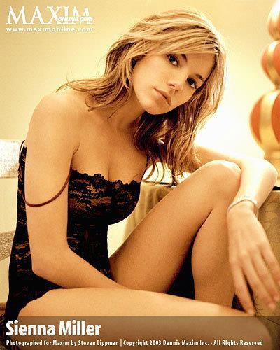 Sienna Miller in lingerie