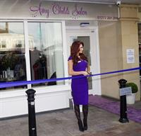 Amy Childs launching her salon at Unit 1 Wilson's Corner in Brentwood on November 24, 2011