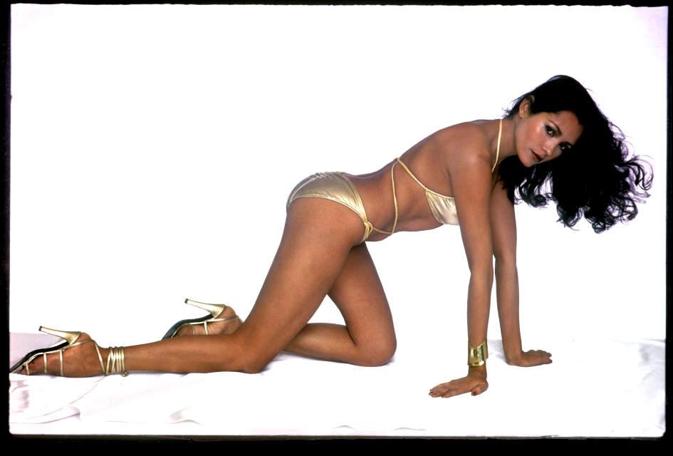 Barbara Carrera in a bikini