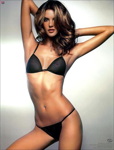 Alessandra Ambrosio in lingerie