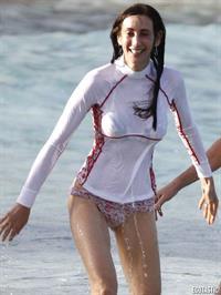 Nancy Shevell in a bikini