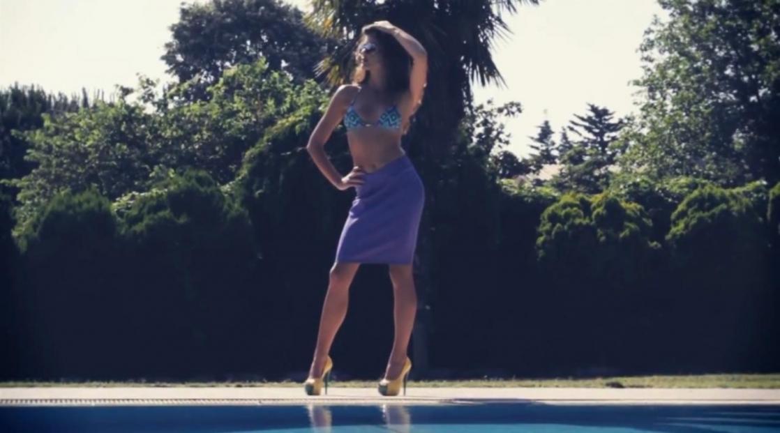 Berrak Tüzünataç in a bikini