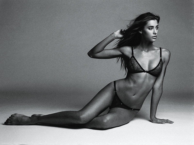 Jessica Serfaty in lingerie