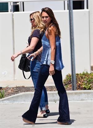 Jessica Alba out in Montebello on July 31, 2012