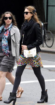 Jessica Alba out about in New York on May 7, 2012
