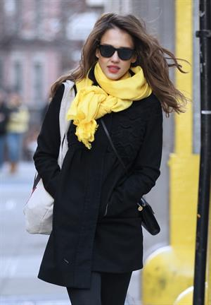 Jessica Alba out and about in New York on March 9, 2012