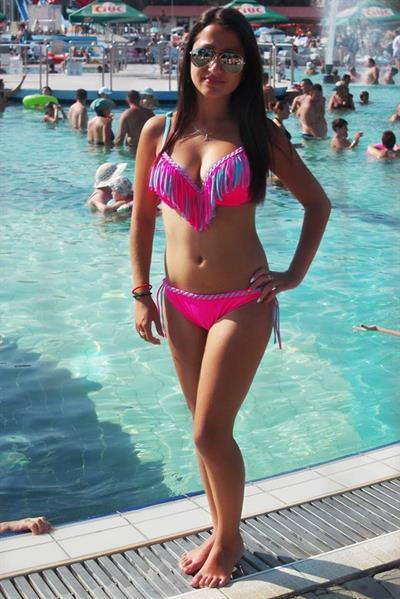 Andrea Jones in a bikini