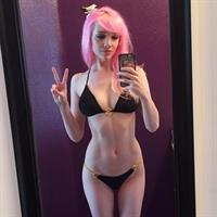 Lyz Brickley in a bikini taking a selfie