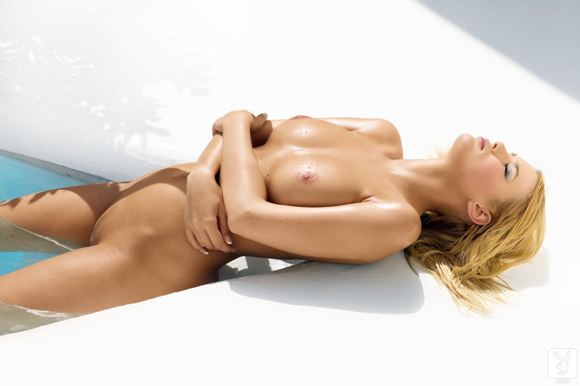 Nude playboy full body shot