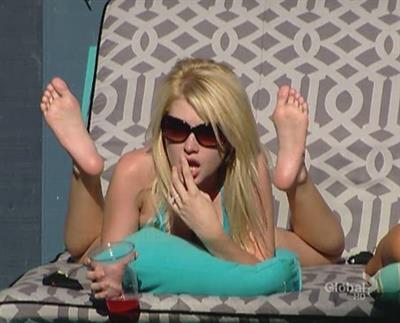 Britney Haynes in a bikini