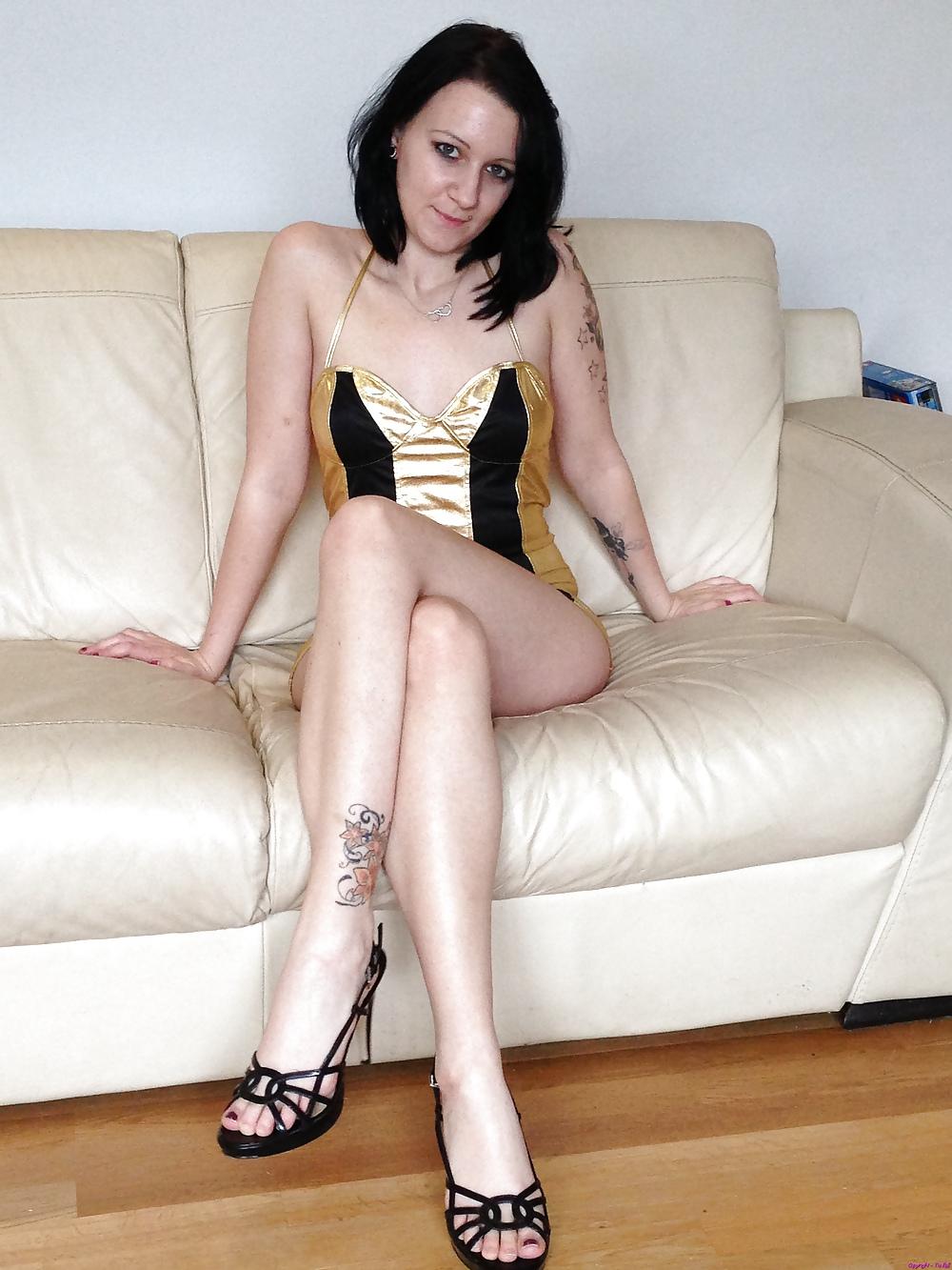 Tia Bell in lingerie