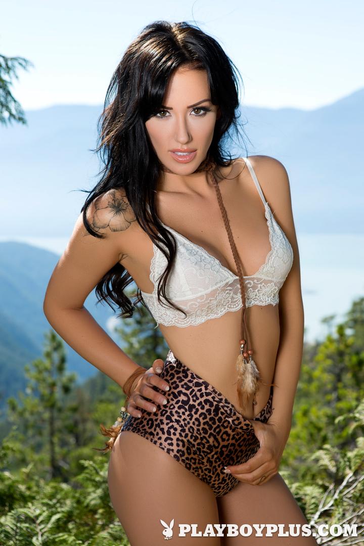 Playboy Cybergirl - Alyssa Bennett Nude outside in the forest.