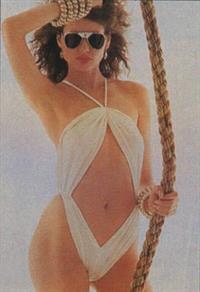Geena Davis in a bikini