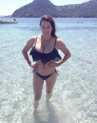 Monica Mendez in a bikini