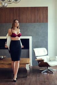 Olga Kobzar in lingerie