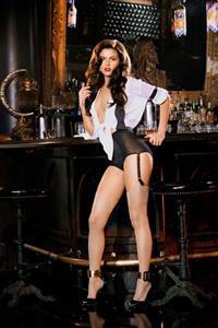 Val Keil in lingerie