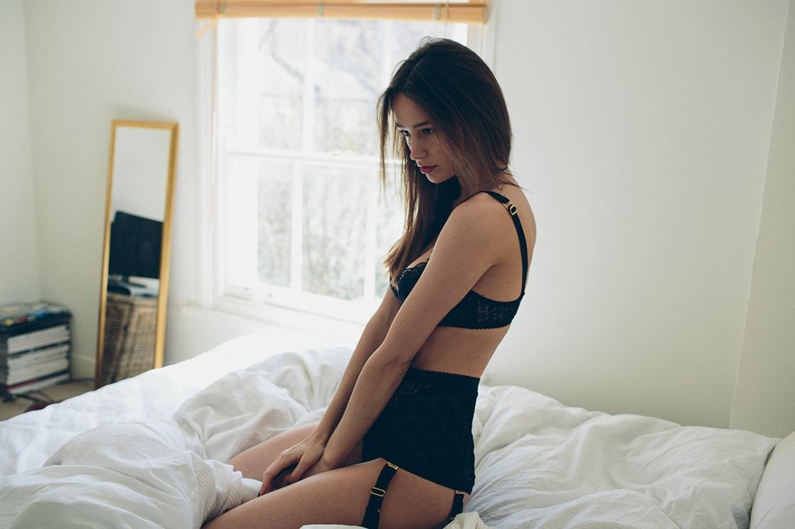 Abi Penhale in lingerie