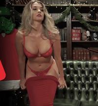 Emily Sears in lingerie