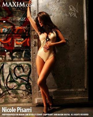 Nicole Pisarri in a Maxim photo shoot