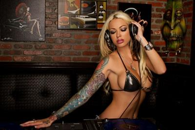 Megan Daniels in a bikini