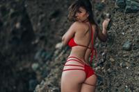 Tianna Gregory in a bikini - ass
