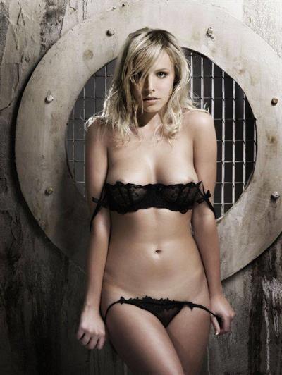 Kristen Bell in lingerie - breasts
