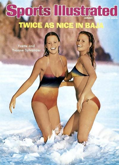 1976 Sports Illustrated Swimsuit Cover .  With Yvonne Sylander