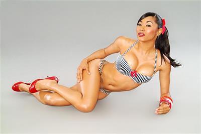 Ashanti Toi in a bikini