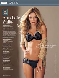 Annabelle Wallis in lingerie