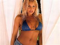 Trish Stratus in a bikini