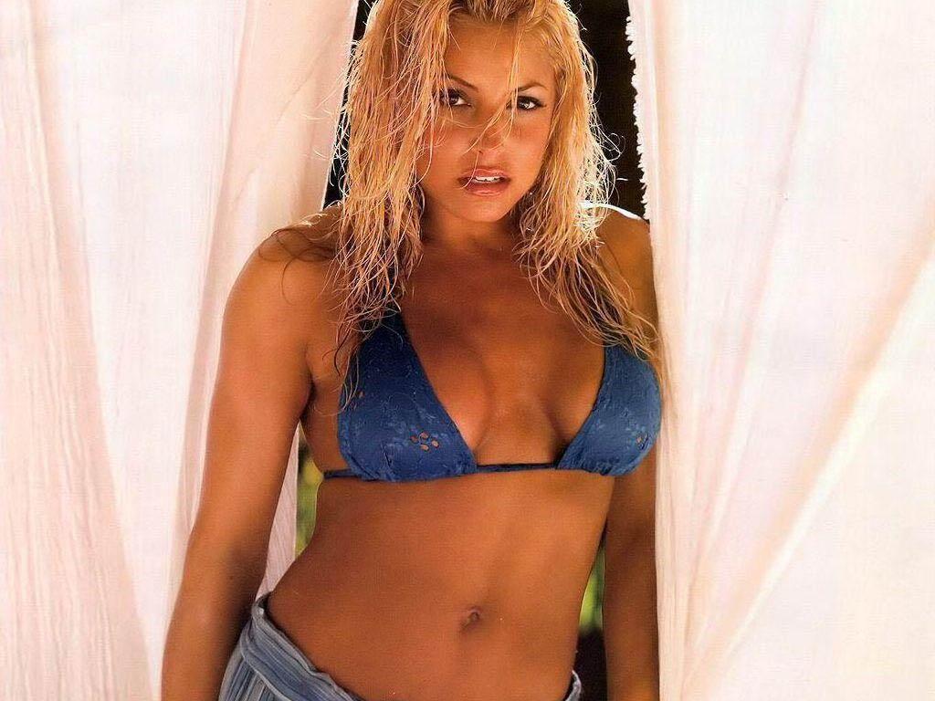 Trish Stratus in a bikini