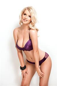 Jessica Davies in lingerie