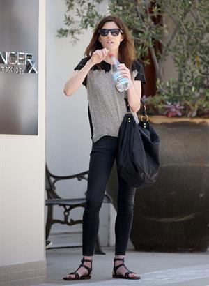 Jennifer Carpenter visits the dermatologist  in Beverly Hills, June 10, 2014