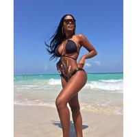 Monifa Jansen in a bikini
